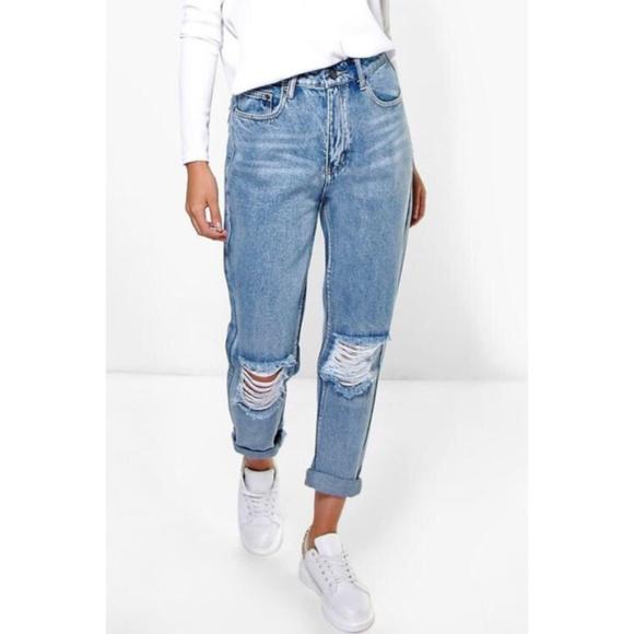 dd6cbe683af8 Boohoo Jeans | The Rockin Rev Highrise Boyfriend | Poshmark